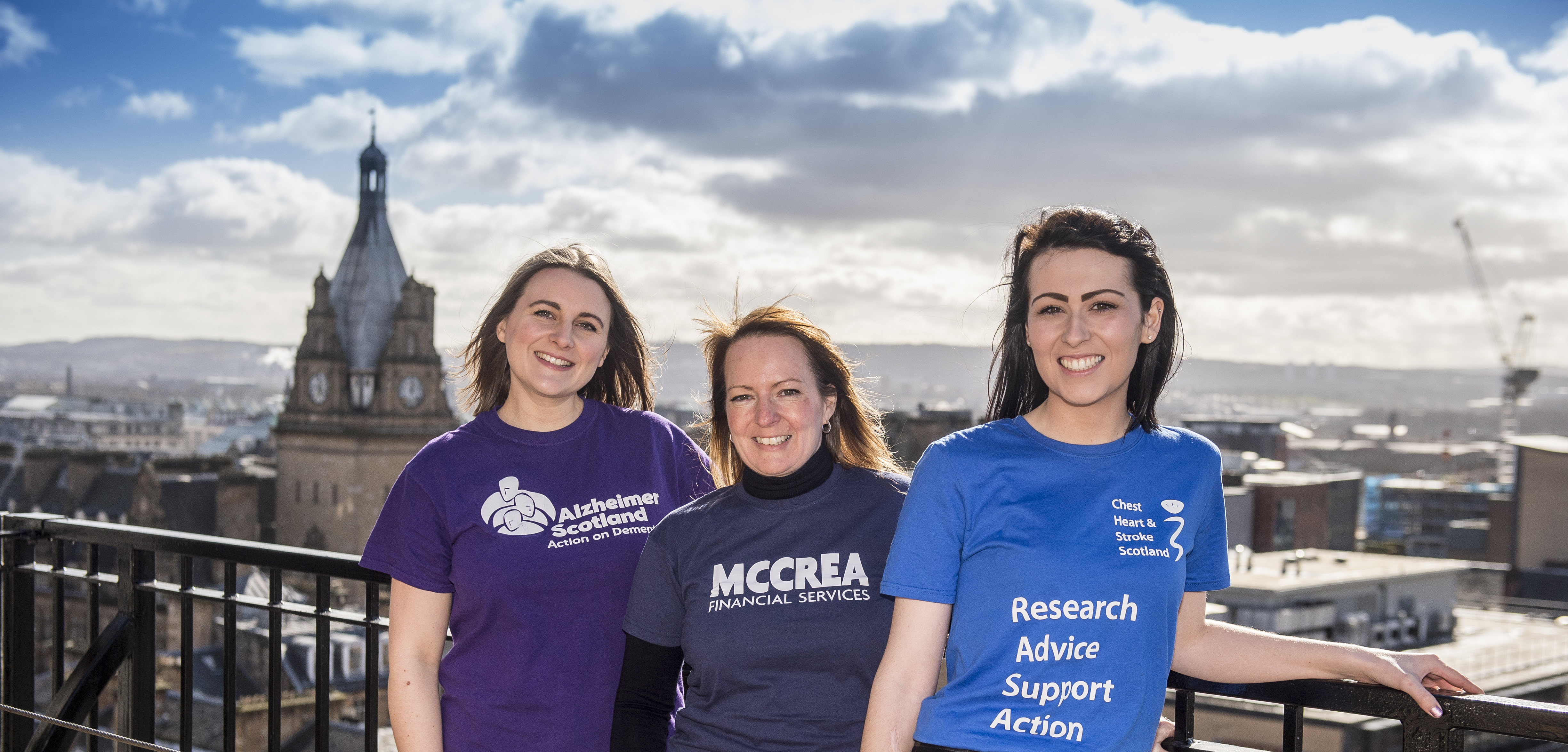 McCrea Financial Services 2017 Charities of the Year - Alzheimer Scotland and Chest Heart & Stroke Scotland